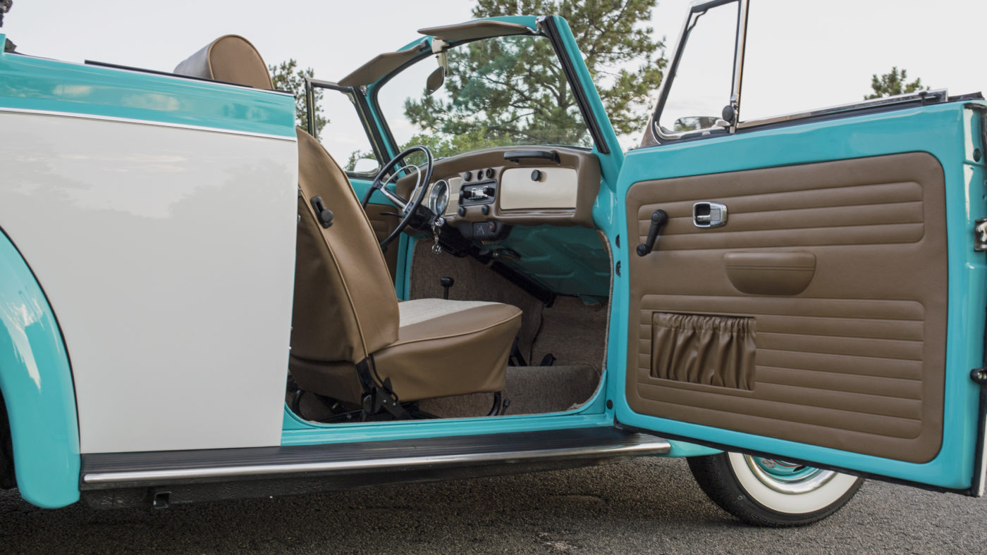 VW Bug Brown Tan Interior